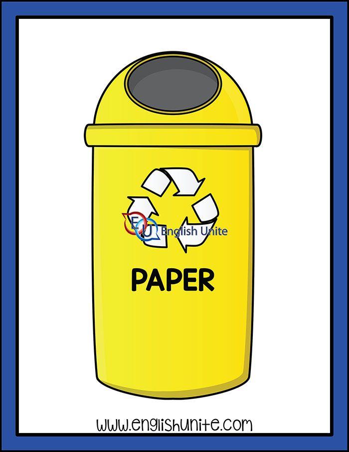 Recycle Paper Bin Recycling Yellow Paper Recycling Bins