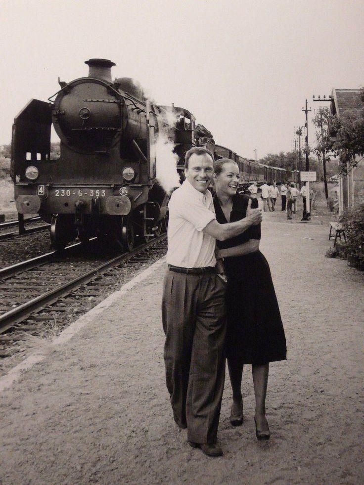 """Romy Schneider et Jean-Louis Trintignant dans """"le train"""" de Pierre Granier-Deferre 1972."""