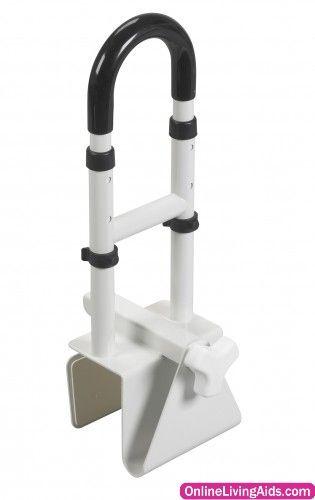 Drive Medical - rtl12036-adj - Adjustable Height Bathtub Grab Bar Safety Rail