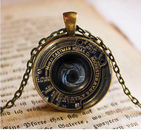 Camera Lens Vintage Necklace