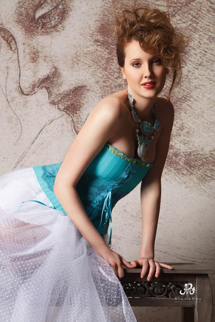 "Soutache Necklace ""Mermaid."" Design by Yulia Logvinova."