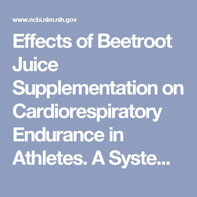 Effects of Beetroot Juice Supplementation on Cardiorespiratory Endurance in Athletes. A Systematic Review