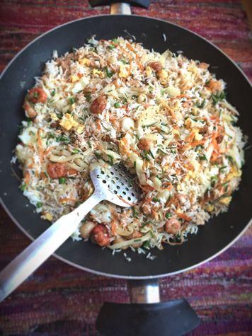 recette riz frit île Maurice