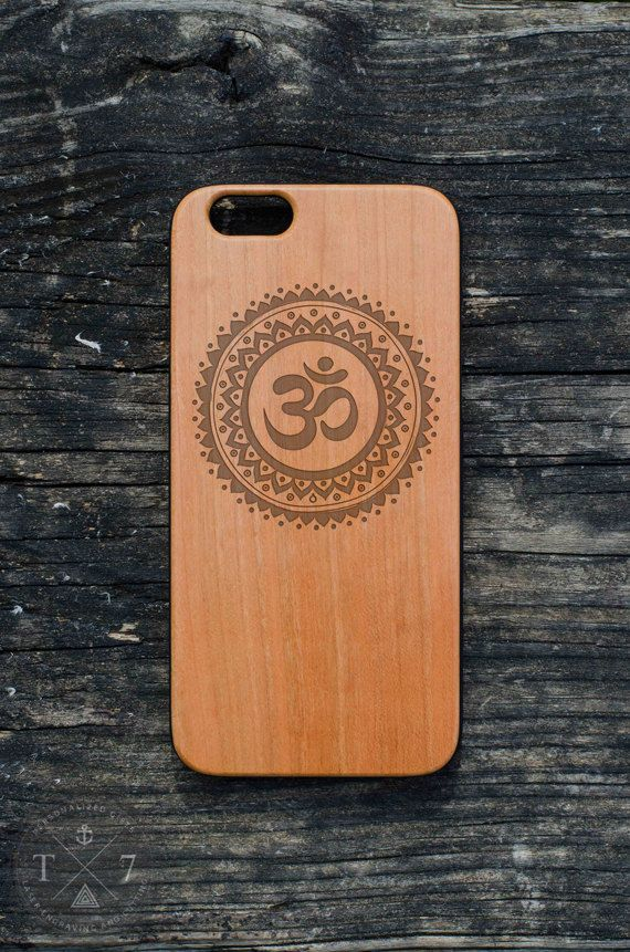 Ohm symbol  iPhone 6 iPhone 5 5s wooden case walnut by StudioT7