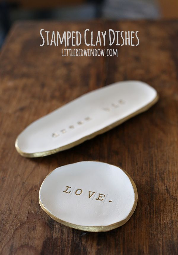 Stamped Clay Trinket Dishes