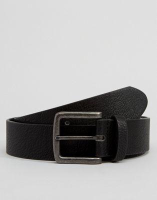 ASOS Faux Leather Wide Belt In Black