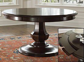 Arlington Round Pedestal Dining Table    1999 20  The classic 56  Arlington  pedestal round dining48 best Dining room images on Pinterest   Home  Round tables and  . Arlington Round Sienna Pedestal Dining Room Table W Chestnut Finish. Home Design Ideas