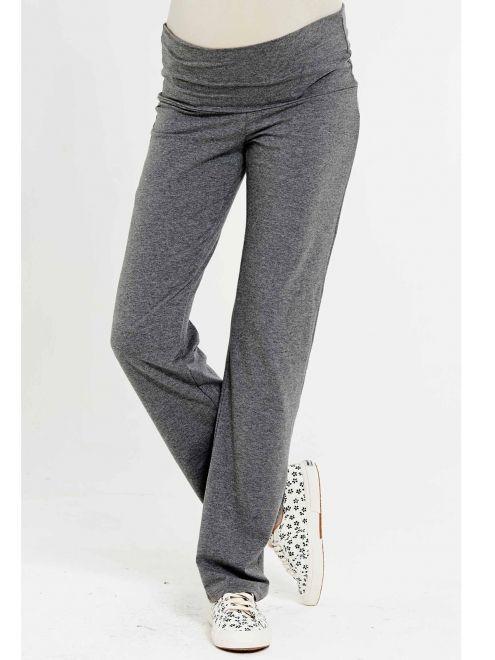 Pantalon pyjama grossesse allaitement anthracite Ninette NOPPIES - Photo