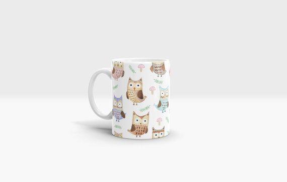 Owls Mug. 11oz Ceramic Mug. by NJsBoutiqueCo on Etsy