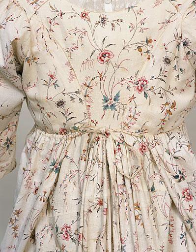 Dress (image 2) | England | 1795-1800 | cotton, linen | Manchester Art Gallery | Accession #: 1956.6