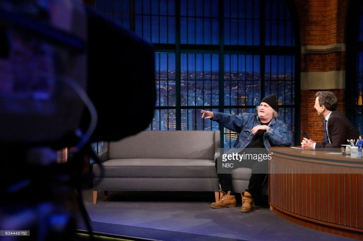 Comedian Artie Lange during an interview with hose Seth Meyers on February 9, 2017 --