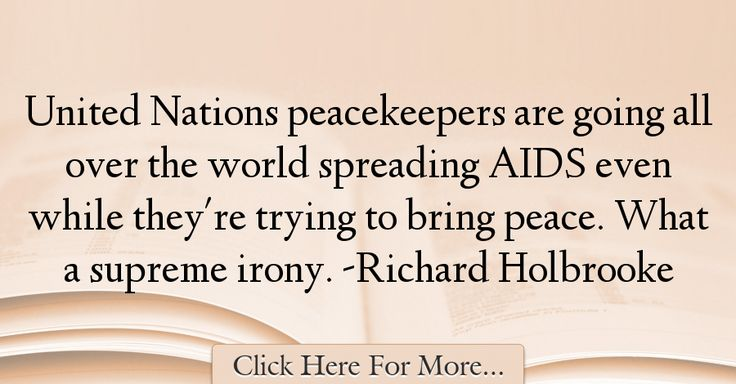 Richard Holbrooke Quotes About Peace - 53646
