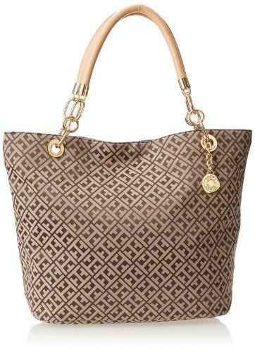 Tommy Hilfiger 6923845 Landmark Jacquard Shoulder Bag,Dark Chocolate/Ecru,One Size Tommy Hilfiger,http://www.amazon.com/dp/B00HR14TXE/ref=cm_sw_r_pi_dp_EH-ytb0SJG8GV5TZ