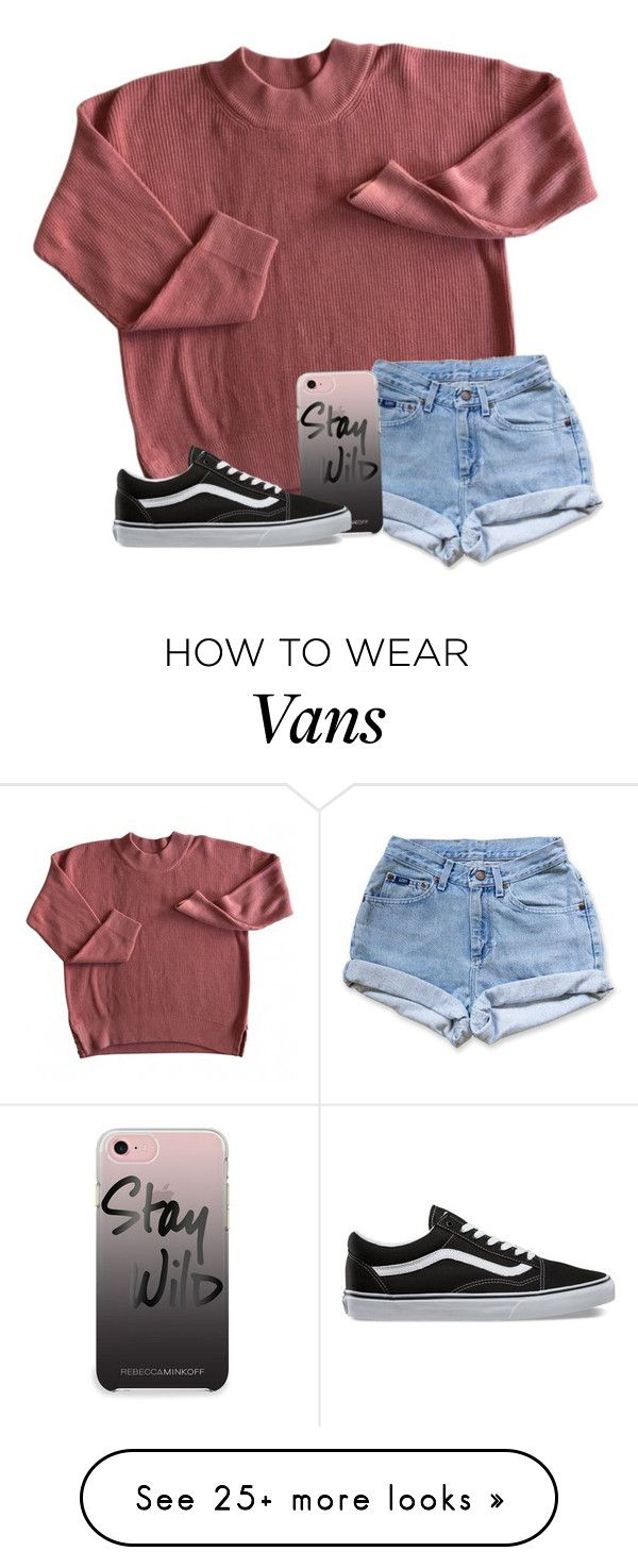 """School is so tiring "" by wander-krn on Polyvore featuring Levi's, Rebecca Minkoff and Vans"