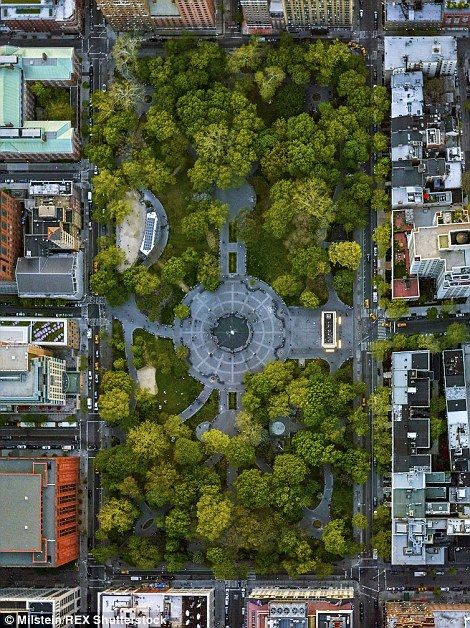 Green spaces: Nestled between endless rows of buildings, Washington Square Park