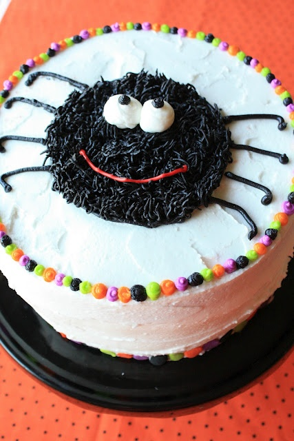 Munchkin Munchies: Checkerboard Spider Cake