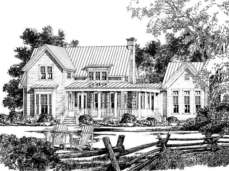 137 best images about house plans on pinterest modern for Southern country house plans