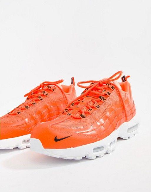 cheap for discount e35e3 7a28f Nike Air Max 95 Premium Trainers In Orange 538416-801   ASOS