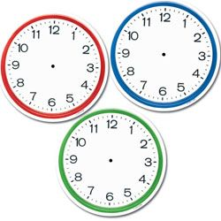 "Clocks 6"" Designer Cut-Outs"
