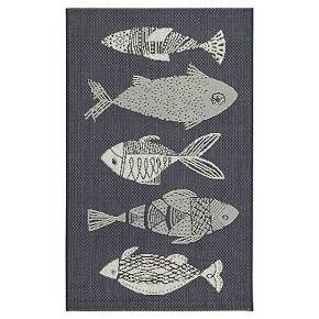 Navy Fish Outdoor Rug Threshold Rugs Target And