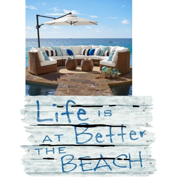 life is better at the beach by tyesha-d-moore on Polyvore featuring polyvore interior interiors interior design home home decor interior decorating Pottery Barn