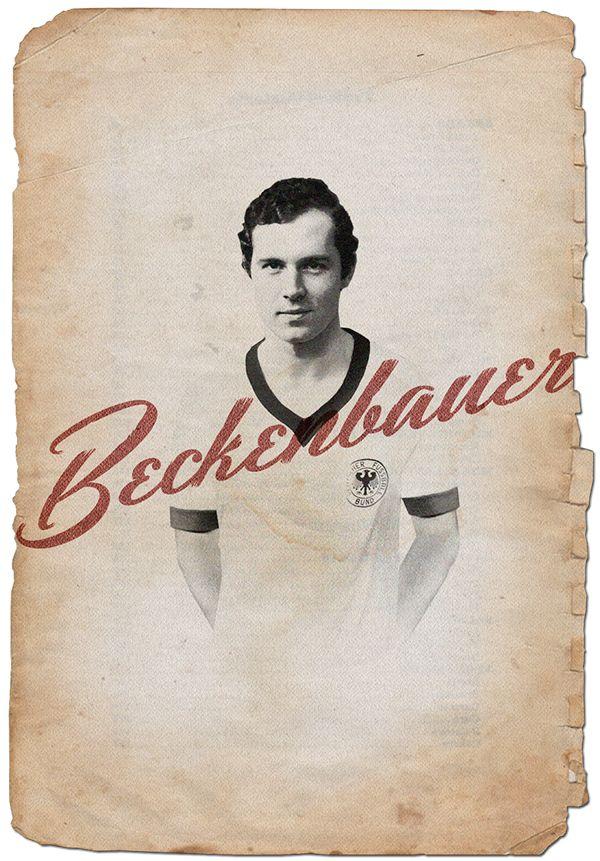 Beckenbauer // Cruyff y los 5 grandes on Behance