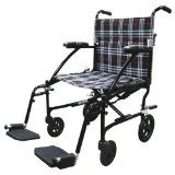 "Drive Medical Fly Lite Ultra Lightweight Transport Wheelchair, Black Frame, 19""  List Price: $366.57 Discount: $230.12 Sale Price: $136.45"