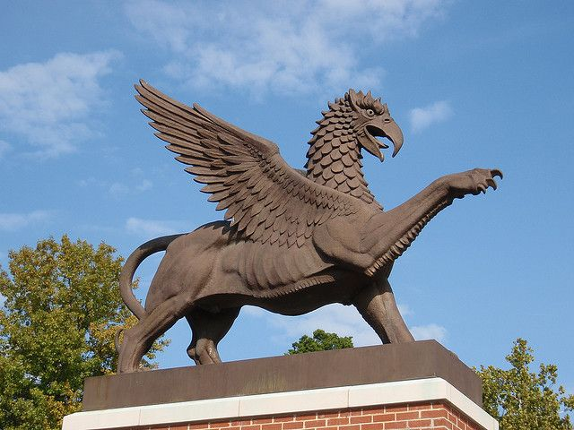 Vianney Griffin Sculpture by Bob Cassilly - Vianney High School campus, Kirkwood, MO by Wampa-One, via Flickr