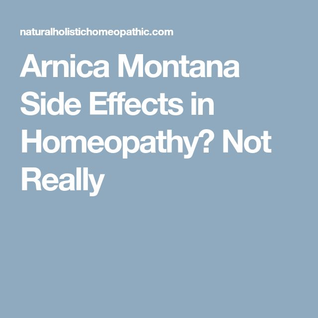 Arnica Montana Side Effects in Homeopathy? Not Really
