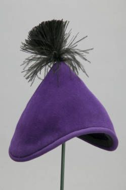 Hat, ca. 1955. Silk velvet. Christian Dior, Paris.-   The House of Dior offered the fashionable woman a full range of clothing, accessories, and even perfume. ... Many famous designers followed Dior's lead in the creation of accessory lines and licensing of their names to create the bulk of their gross annual sales.