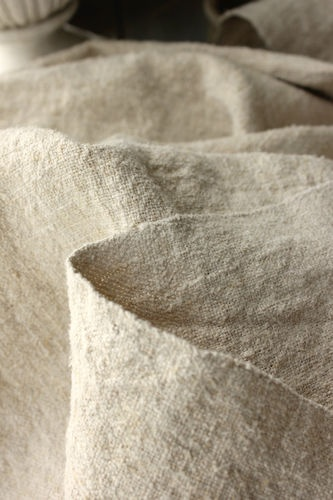 Vintage Homespun Linen Washed Fabric Grainsack Material 5 3 yd Soft and Pale | eBay