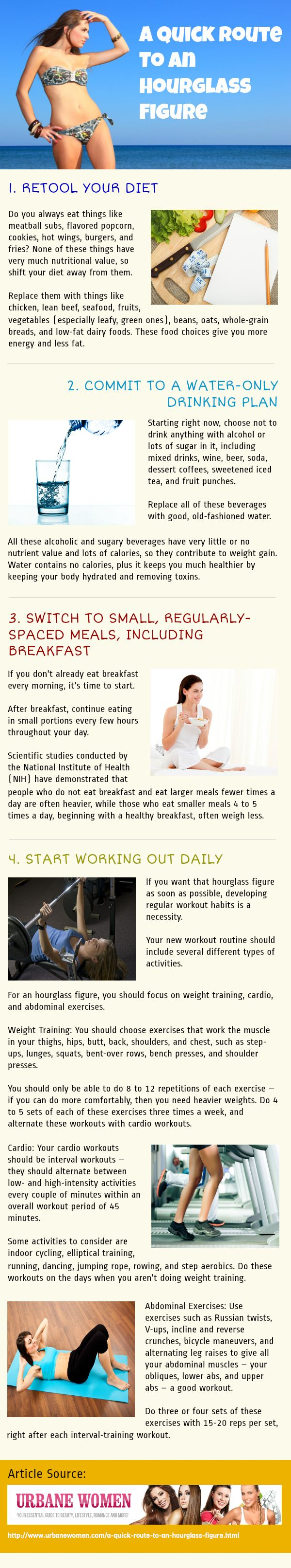 A Quick Route To An Hourglass Figure [Infographic]