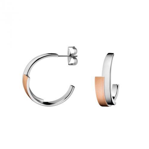 Calvin Klein Bijoux Oorsieraden Intense Zilver/rosé, prachtig voor elke vrouw.