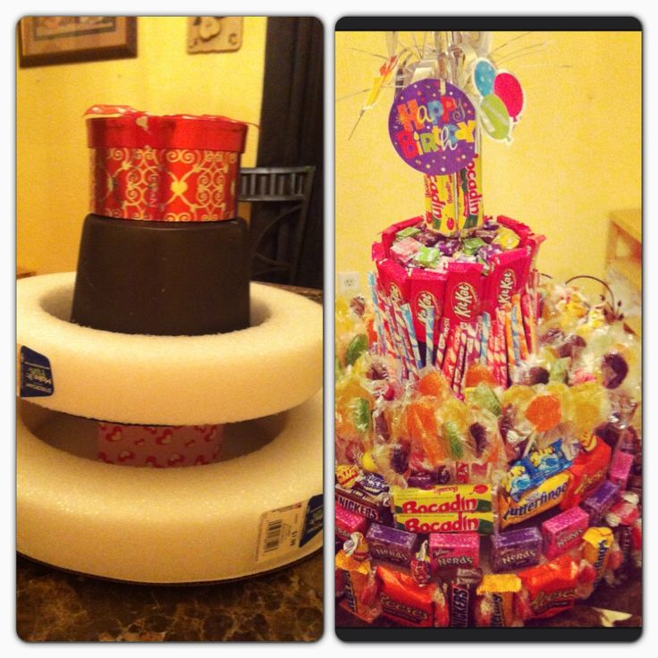 18th Birthday Basket For My Son S Birthday Filled With: 1000+ Images About Candy Tower On Pinterest
