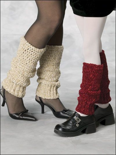Keep-the-Chill-Out Leg Warmers - Keep your legs stylishly warm with these crocheted leg warmers.  Designed by Joy Prescott  free pdf from freepatterns.com