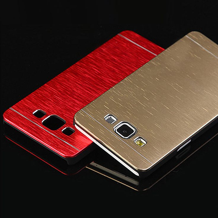 Phone Case For Samsung Galaxy A3 A5 A7 (2015) Aluminum Metal Cover + Plastic Hard Cases For Samsung A300 A500 A700 With Logo