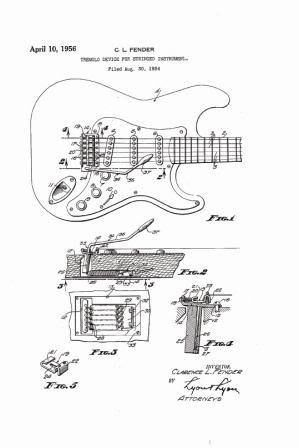 Patents on fender stratocaster blueprint