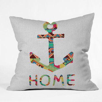 DENY Designs Bianca Green You Make Me Home Woven Polyester Throw Pillow