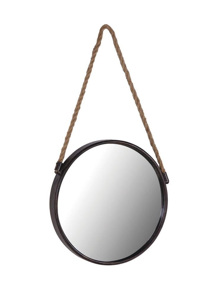 Reminiscent of an old-fashioned port hole, our Cruise mirror is made from lightweight metal with a distressed black painted finish and a rope for hanging. A great size to hang in the hallway or even a bathroom, why not team three together for a wall feature?