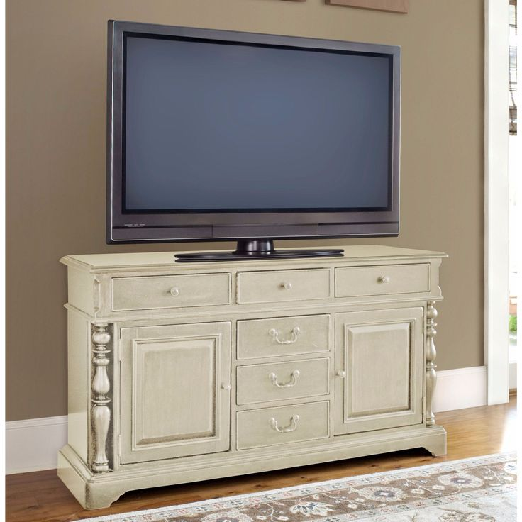 Fabulous Paula Deen Home Wall System In Linen Finish Console White Discount  With Woodstock Furniture Outlet Hiram