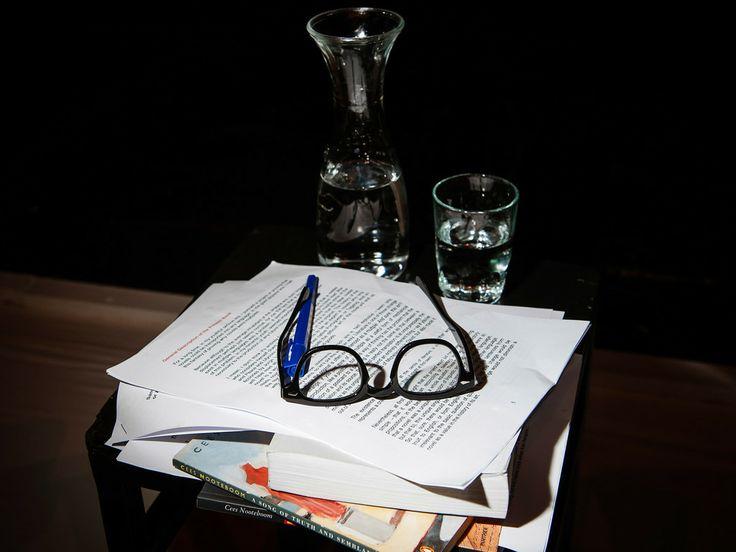 Adam Thirlwell's stuff: Reading at Berliner Ensemble in November 2013 © Photo: Phil Dera