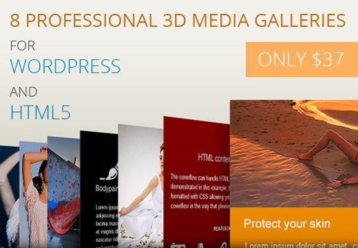 In this deal you will find 4 WordPress media galleries and 4 HTML5 media galleries that come with a lot of powerful features, are easy to set up and integrate in any project! You can customize them as much as you want, until you get that perfect look that fits your needs.