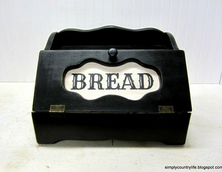 Simply Country Life: Monday Makeover - Trashy Bread Box