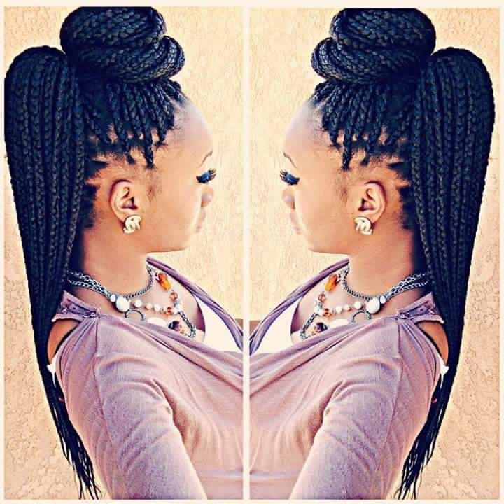 Crochet Box Braids Bun : Box Braid Styles on Pinterest Box braids styling, Styles for braids ...