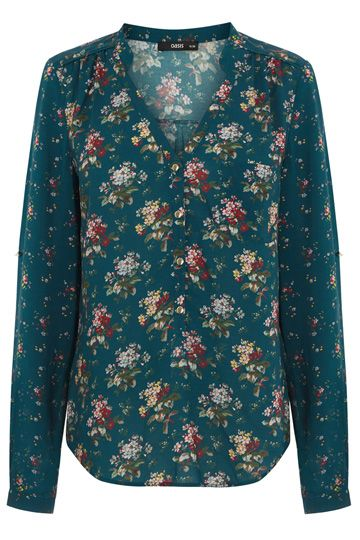 Floral top by Oasis. Love the green.