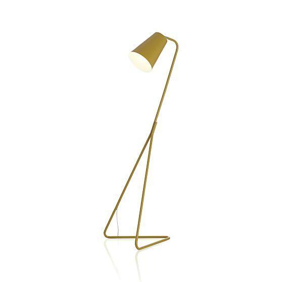 Mick Yellow Floor Lamp in Floor Lamps | Crate and Barrel