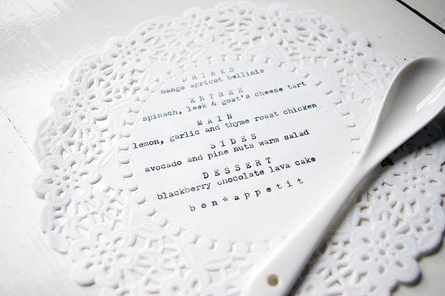 menu on a doile: Doil Menu, Doilies Crafts, Diy Prints, Doilies Menu, Menu Doilies, Lace Menu, Doile Menu, Great Ideas, Crafts Diy