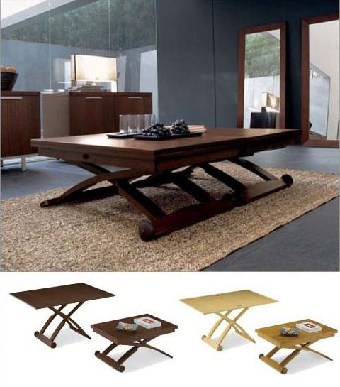 Height Adjustable Extending Coffee Dining Table: Mascotte Extendable Coffee Or