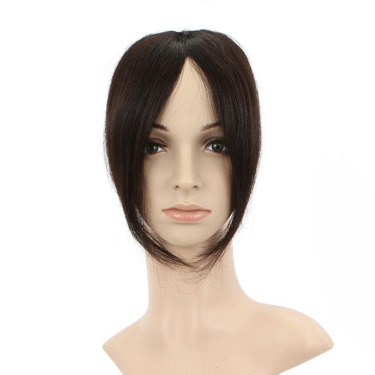 Настоящие волосы невидимой настоящие волосы челка челка волос кусок поддельные бахрома Леди Девушки Косплей Peluca Продукты