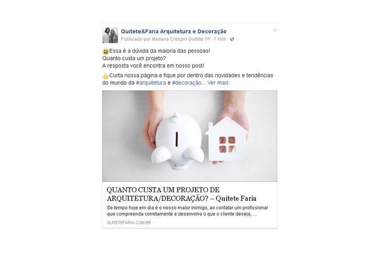 Saiba já quanto custa um Projeto!! #quitetefaria